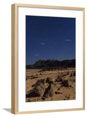 Stars of Constellation Centaurus, Lupus and Norma Appear Above Sandstone Cliffs-Babak Tafreshi-Framed Art Print