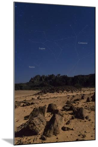 Stars of Constellation Centaurus, Lupus and Norma Appear Above Sandstone Cliffs-Babak Tafreshi-Mounted Photographic Print