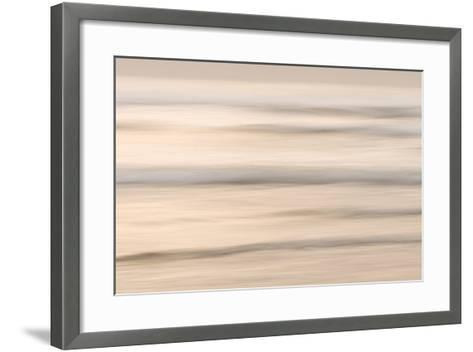 Waves and Surf at Crescent Beach During Sunset in Part of Redwood National Park-Philip Schermeister-Framed Art Print