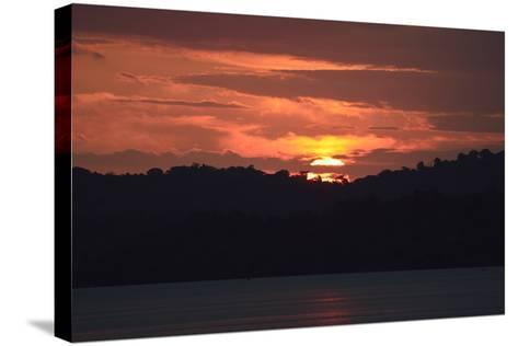 Sunrise from the Anchorage of Barro Colorado Island-Jonathan Kingston-Stretched Canvas Print