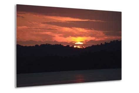 Sunrise from the Anchorage of Barro Colorado Island-Jonathan Kingston-Metal Print
