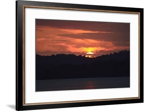 Sunrise from the Anchorage of Barro Colorado Island-Jonathan Kingston-Framed Art Print