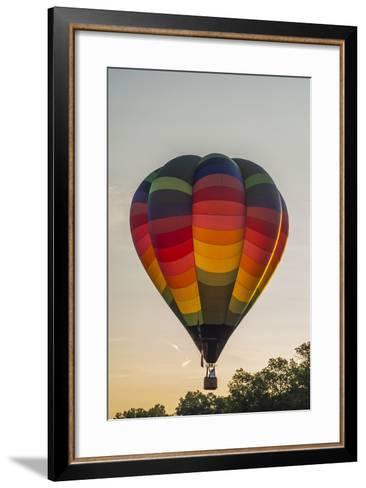 Hot Air Balloons Ascend at Sunrise-Brian Drouin-Framed Art Print