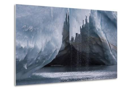 Water Pours Off a Glacier on the Edge of Dundee Island-David Griffin-Metal Print