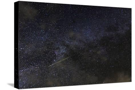 A Meteor in the Starry Sky of Hawaii During the Persied Meteor Shower-Babak Tafreshi-Stretched Canvas Print