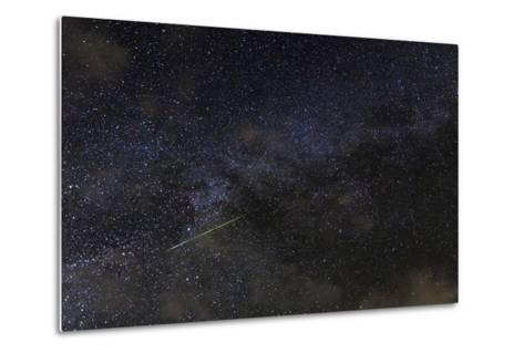 A Meteor in the Starry Sky of Hawaii During the Persied Meteor Shower-Babak Tafreshi-Metal Print