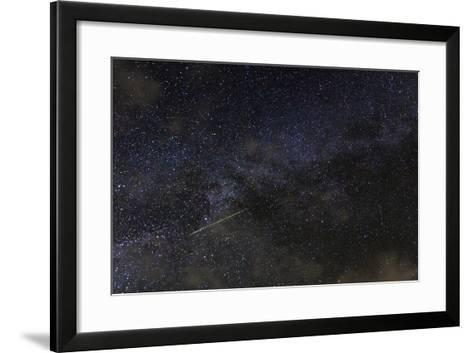 A Meteor in the Starry Sky of Hawaii During the Persied Meteor Shower-Babak Tafreshi-Framed Art Print