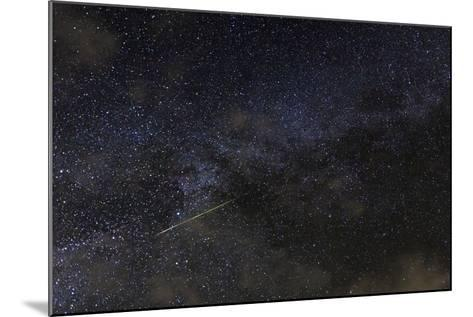 A Meteor in the Starry Sky of Hawaii During the Persied Meteor Shower-Babak Tafreshi-Mounted Photographic Print