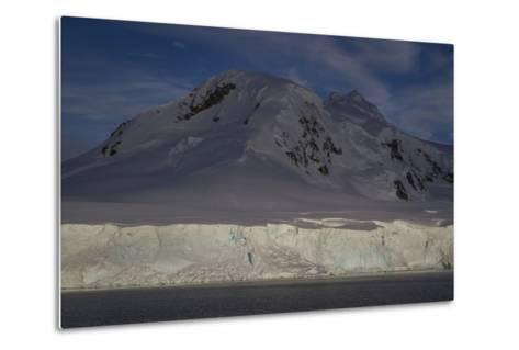 Glacier and Mountain on Cuverville Island-David Griffin-Metal Print
