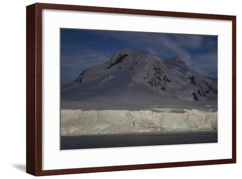 Glacier and Mountain on Cuverville Island-David Griffin-Framed Art Print