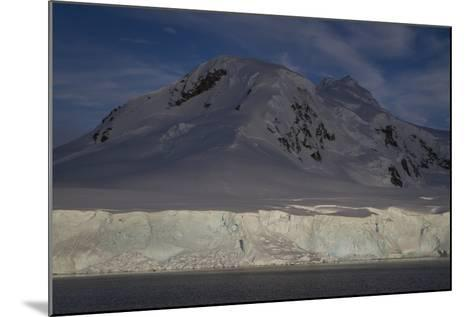 Glacier and Mountain on Cuverville Island-David Griffin-Mounted Photographic Print