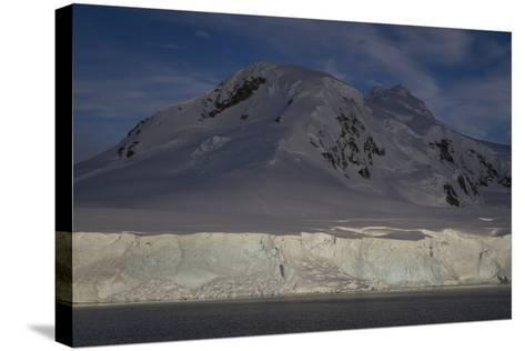 Glacier and Mountain on Cuverville Island-David Griffin-Stretched Canvas Print