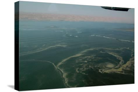 Aerial View of Namibia's Skeleton Coast-Anne Keiser-Stretched Canvas Print