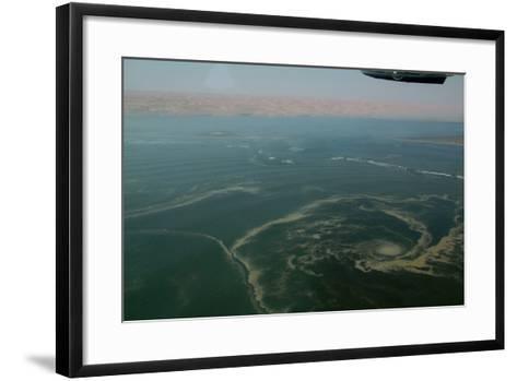 Aerial View of Namibia's Skeleton Coast-Anne Keiser-Framed Art Print