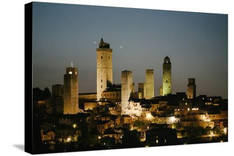 The Medieval Town of San Gimignano at Night-Matt Propert-Stretched Canvas Print