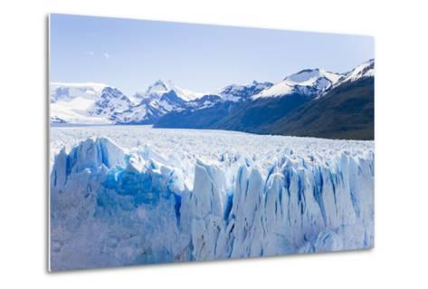 Deep Blue Cracks Line the Front Wall of the Perito Moreno Glacier-Mike Theiss-Metal Print