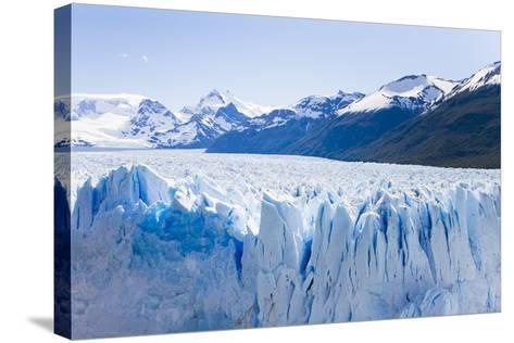 Deep Blue Cracks Line the Front Wall of the Perito Moreno Glacier-Mike Theiss-Stretched Canvas Print