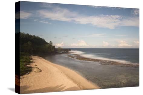 An Empty White Sand Beach-Gabby Salazar-Stretched Canvas Print