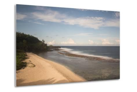An Empty White Sand Beach-Gabby Salazar-Metal Print