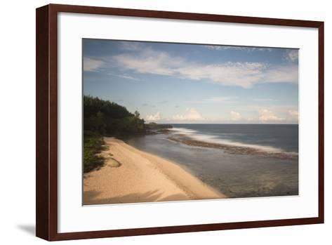 An Empty White Sand Beach-Gabby Salazar-Framed Art Print