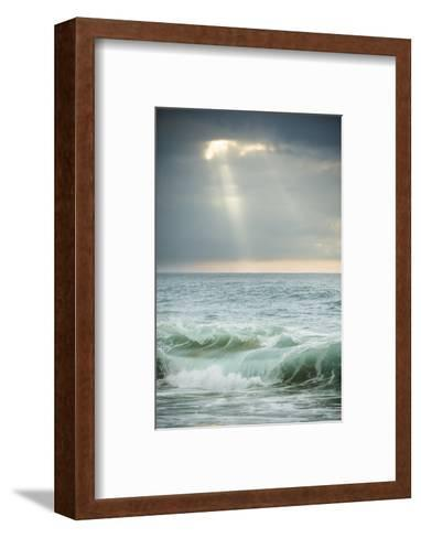 Sun Rays Break Through the Clouds over the Pacific on the West Shore of Molokai, Hawaii-Jonathan Kingston-Framed Art Print