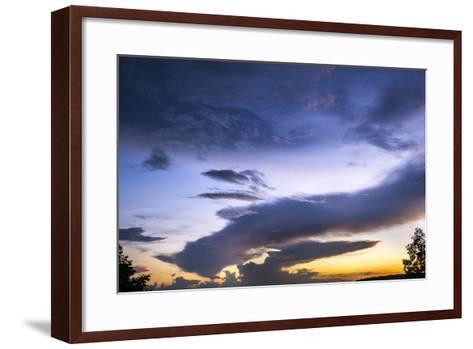 The Conclusion of an Extraordinary Sunset at Morgans Steep-Stephen Alvarez-Framed Art Print