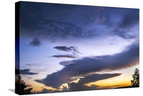 The Conclusion of an Extraordinary Sunset at Morgans Steep-Stephen Alvarez-Stretched Canvas Print