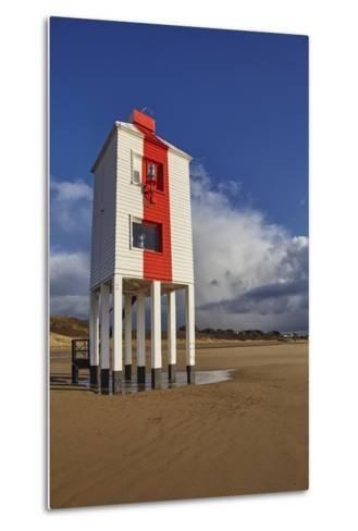 A Historic, Mid-19th Century, Wooden Lighthouse, on the Beach at Burnham-On-Sea-Nigel Hicks-Metal Print
