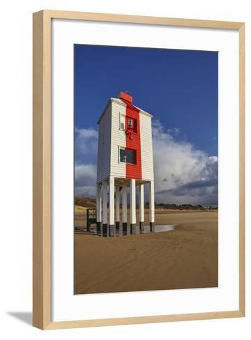 A Historic, Mid-19th Century, Wooden Lighthouse, on the Beach at Burnham-On-Sea-Nigel Hicks-Framed Art Print