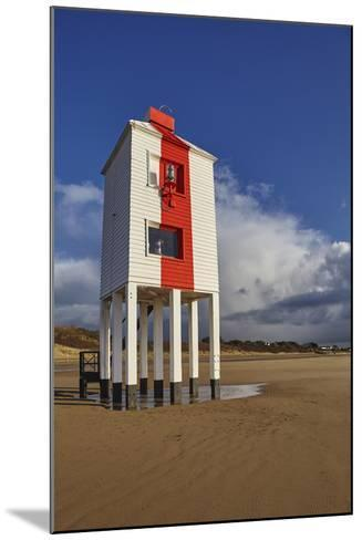 A Historic, Mid-19th Century, Wooden Lighthouse, on the Beach at Burnham-On-Sea-Nigel Hicks-Mounted Photographic Print