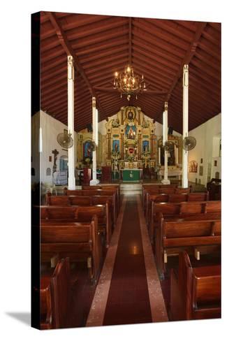 Interior of San Pedro Church on Taboga Island-Jonathan Kingston-Stretched Canvas Print