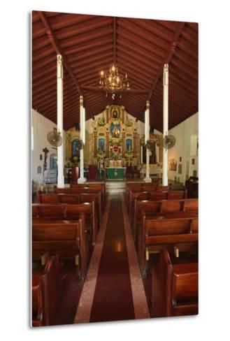 Interior of San Pedro Church on Taboga Island-Jonathan Kingston-Metal Print
