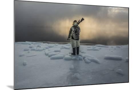An Inuit Hunter on the Sea Ice-Cristina Mittermeier-Mounted Photographic Print