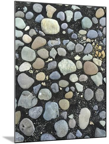 Pebbles on the Black Sand Beach Near Jokulsarlon Glacial Lagoon-Bill Marr-Mounted Photographic Print