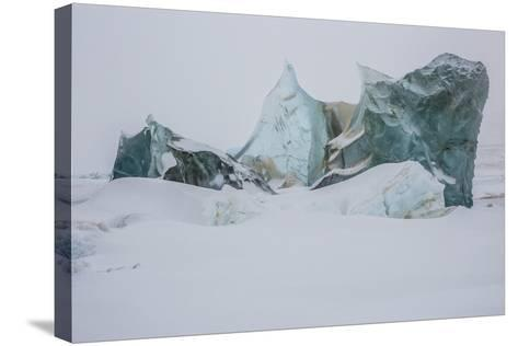 An Ice Formation in Western Greenland-Cristina Mittermeier-Stretched Canvas Print