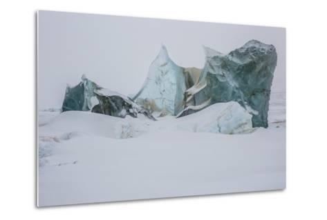 An Ice Formation in Western Greenland-Cristina Mittermeier-Metal Print