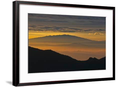 Sunrise Atop Haleakala, an Extinct Volcano on the Island of Maui in Hawaii-Karen Kasmauski-Framed Art Print