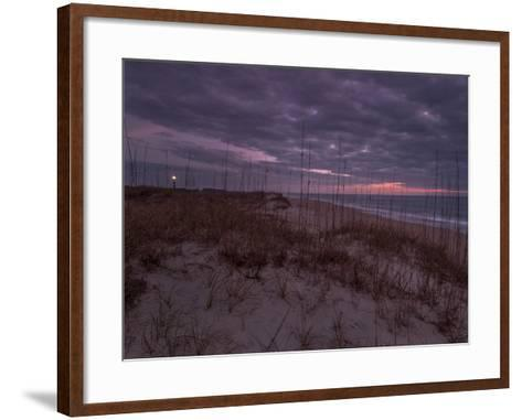 Cape Lookout Lighthouse on the Outer Banks of North Carolina-Jay Dickman-Framed Art Print
