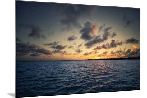 Sunset Off the Coast of Cat Island in the Bahamas-Andy Mann-Mounted Photographic Print