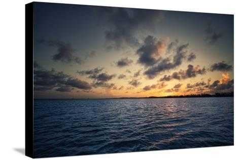 Sunset Off the Coast of Cat Island in the Bahamas-Andy Mann-Stretched Canvas Print