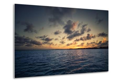 Sunset Off the Coast of Cat Island in the Bahamas-Andy Mann-Metal Print