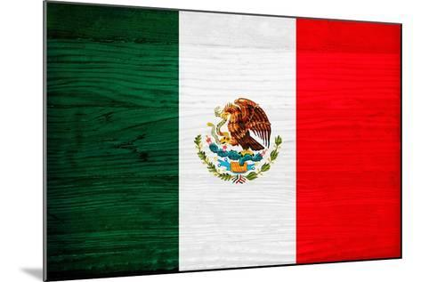 Mexico Flag Design with Wood Patterning - Flags of the World Series-Philippe Hugonnard-Mounted Art Print