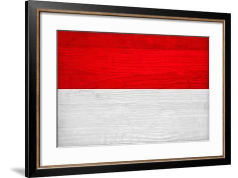 Monaco Flag Design with Wood Patterning - Flags of the World Series ...