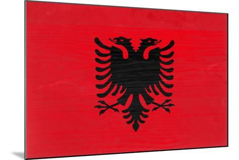 Albania Flag Design with Wood Patterning - Flags of the World Series-Philippe Hugonnard-Mounted Art Print