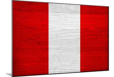 Peru Flag Design with Wood Patterning - Flags of the World Series-Philippe Hugonnard-Mounted Art Print