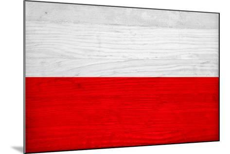 Poland Flag Design with Wood Patterning - Flags of the World Series-Philippe Hugonnard-Mounted Art Print