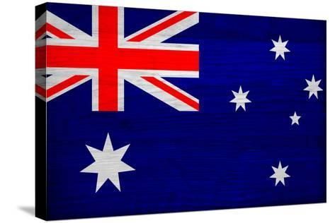 Australia Flag Design with Wood Patterning - Flags of the World Series-Philippe Hugonnard-Stretched Canvas Print