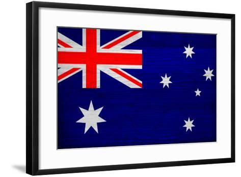Australia Flag Design with Wood Patterning - Flags of the World Series-Philippe Hugonnard-Framed Art Print