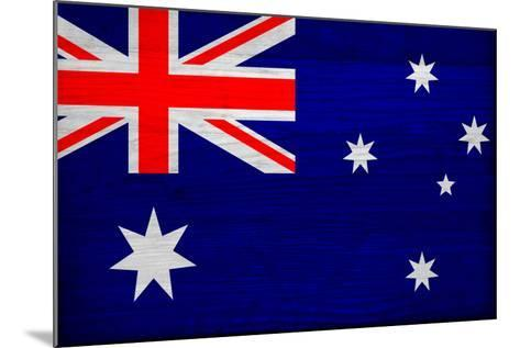 Australia Flag Design with Wood Patterning - Flags of the World Series-Philippe Hugonnard-Mounted Art Print