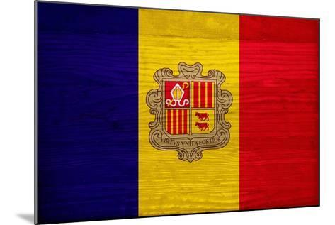 Andorra Flag Design with Wood Patterning - Flags of the World Series-Philippe Hugonnard-Mounted Art Print